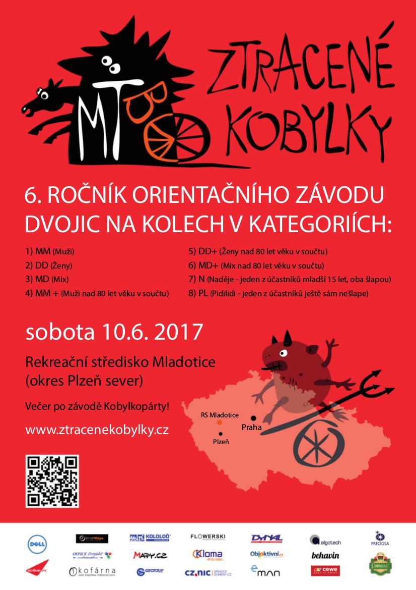Plakát 6. ročníku MTBO Ztracené kobylky