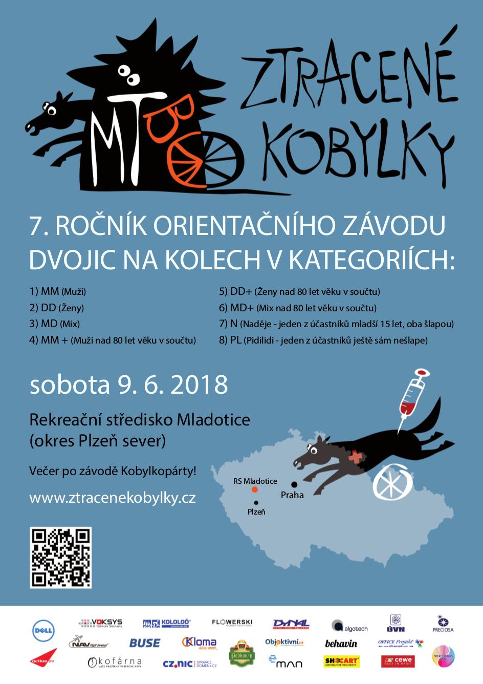 Plakát 7. ročníku MTBO Ztracené kobylky