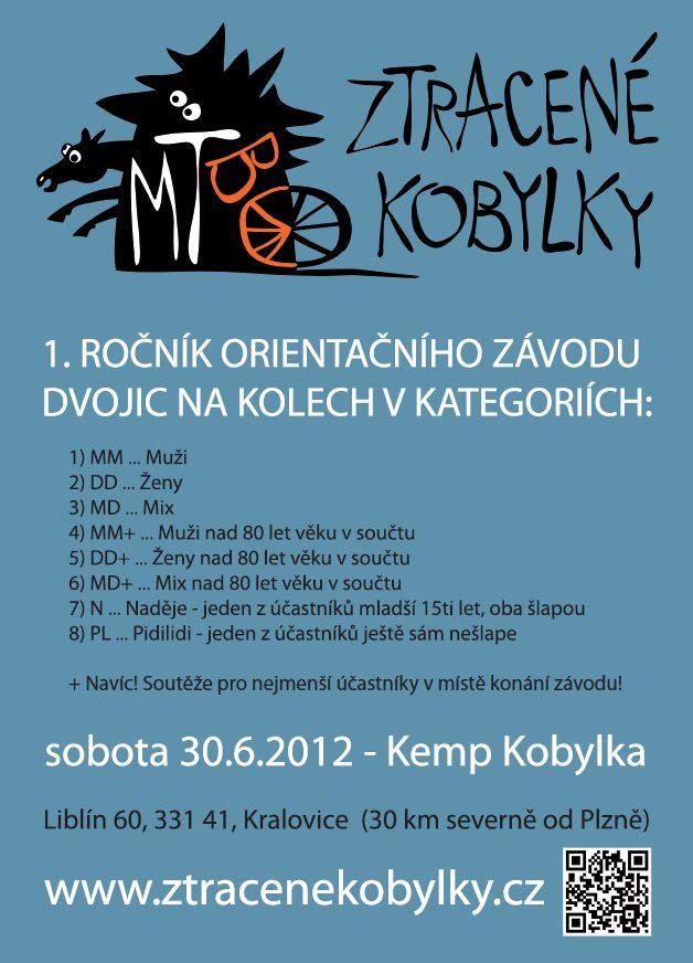 Plakát na MTBO Ztracené kobylky