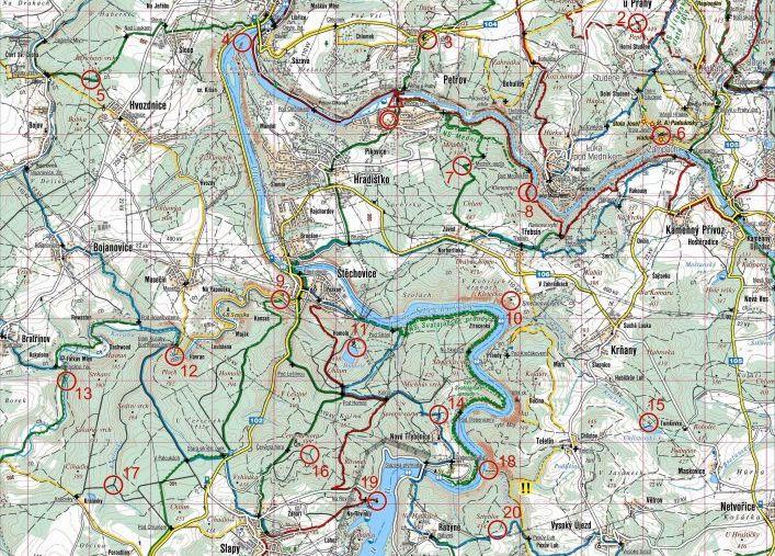 Ukázka mapy pro MTBO