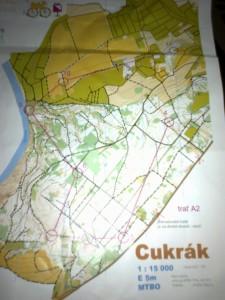 MTBO mapa Cukrák