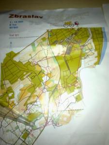 MTBO mapa Zbraslav