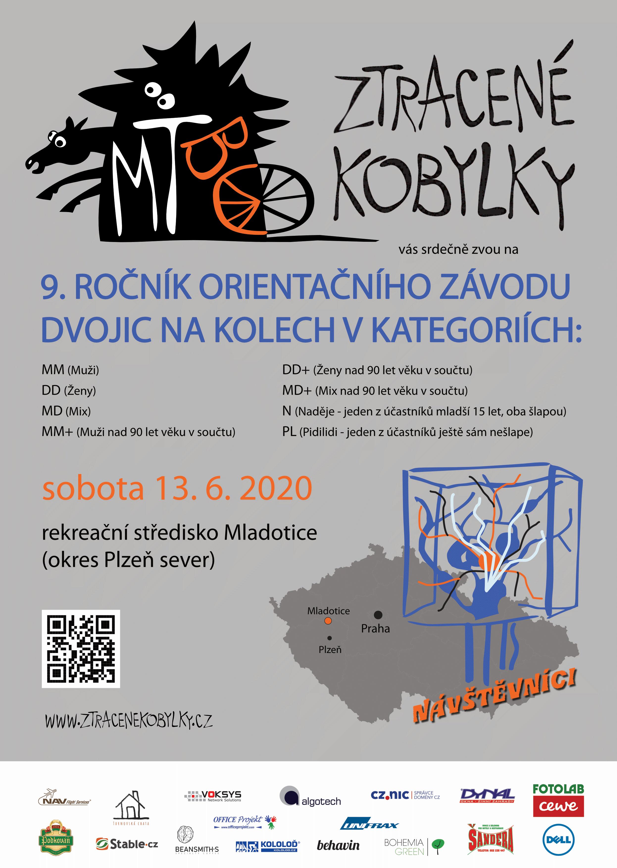Plakát 9. ročníku MTBO Ztracené kobylky